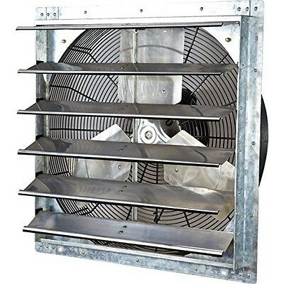 iLIVING ILG8SF24V  24 Inch Variable Speed Shutter Exhaust Fan Wall-Mounted New