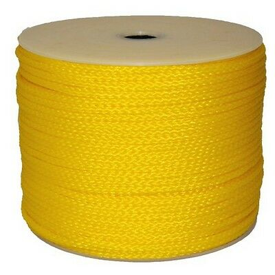 """T.W . Evans Cordage  1/4-"""" By 500-Feet Hollow Braid Polypro Rope, Yellow New"""