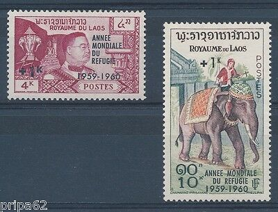 K0820 - LAOS - Timbres N° 69 Neuf* et N° 70 Neuf**