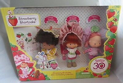 2010 Strawberry Shortcake 30th Anniversary Set, 3 Vintage Style Original Dolls
