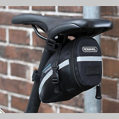 Black Cycling Bike Bicycle Waterproof Saddle Bag Wedge Phone Rear Seat Storage