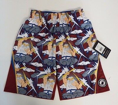 Youth Large Zeus Performance  Athletic Shorts Red Flow Society