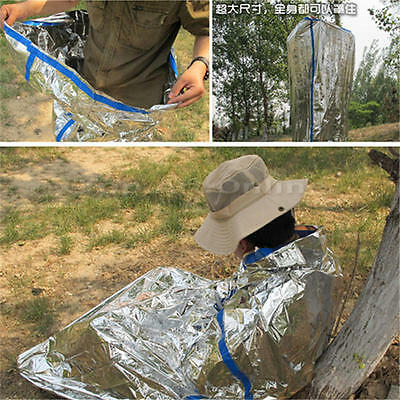 Outdoor Survival Emergency Mylar Waterproof Sleeping Bag Foil Thermal Blanket