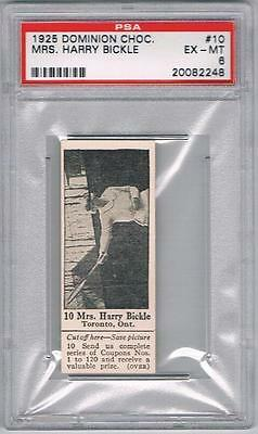 1925 Dominion Choc. Sports Card #10 Mrs. Harry Bickle (Tennis) Graded PSA 6