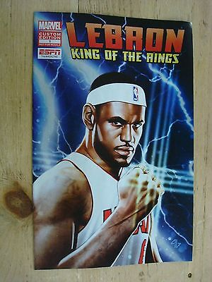 300-LeBRON JAMES KING OF THE RINGS GIVEAWAY PROMO 2012 MARVEL #1 ESPN lot