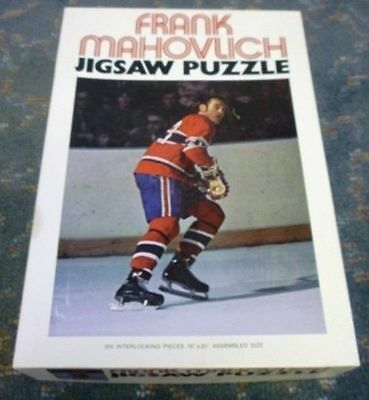 1972 Frank Mahovlich Jigsaw Puzzle With Original Box