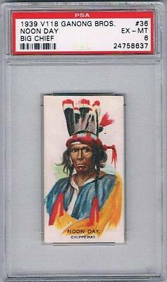 1939 V118 Ganong Bros. Big Chief Trading Card #36 Noon Day Graded PSA 6