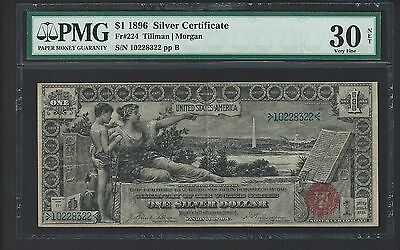1896 $1 Silver Certificate Educational Note FR: 224 PMG VERY FINE 30