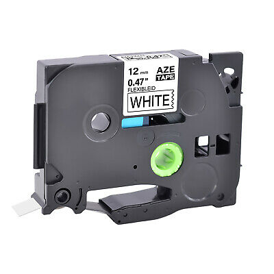 1PK Black on White Flexible Label Tape For Brother P-Touch TZ TZe-Fx231 12mm*8m