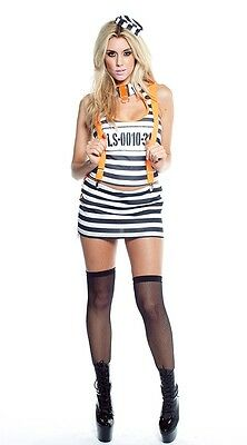 Lip Service Bustin Out 4 Piece Set Women Costume (L)