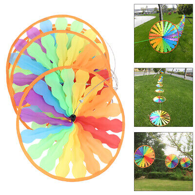 Windmill Wind Spinner Rainbow Wheel Whirligig Garden Home Lawn Yard Decoration