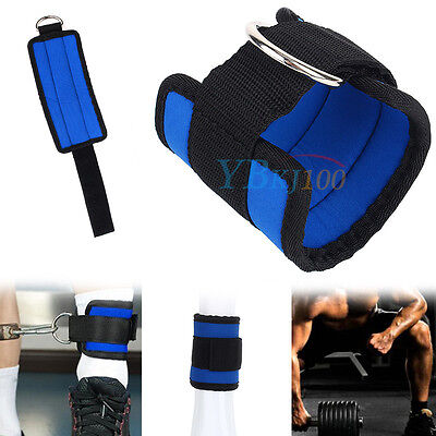 Adjustable Gym Sports Ankle D-Ring Strap For Leg Thigh Pulley Lifting Accessory
