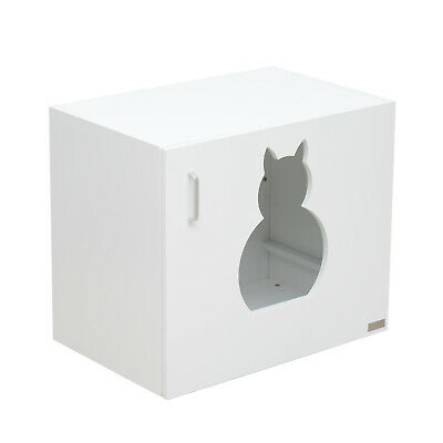 PawHut Cat Litter Box Night Stand Bedside Cabinet Washroom Pet Toilet House NEW