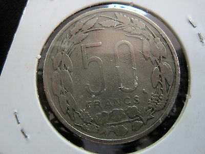 Equatorial African States 50 Francs, 1961, Km#3 - (Ref:G3#20)