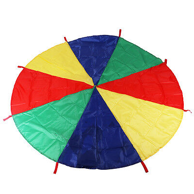 8-Handle 2M Kids Play Rainbow Parachute Outdoor Family Game Exercise Sport Toy