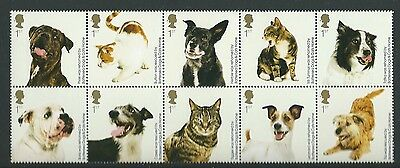Great Britain 2010 Battersea Cats And Dogs Set Of 10 Unmounted Mint, Mnh