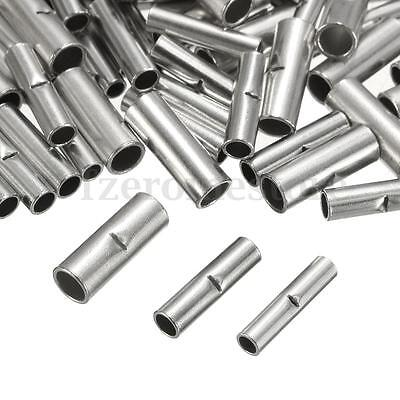 100Pcs 22-10AWG Uninsulated Bootlace Cord End Ferrule Terminals Crimps Cable Tin