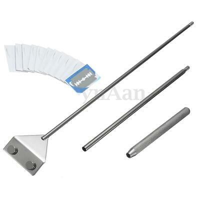Aquarium Fish Tank Glass Stainless Steel Plant Algae Scraper Cleaner + 10 Blades