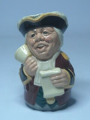 Royal Doulton MR TONSIL THE TOWN CRIER Doultonville Toby Character Jug D6713