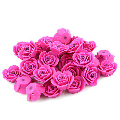 10pcs Wholesale Rose Red FIMO Polymer Clay Rose Flower Fit Charms Handmade LC