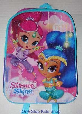 SHIMMER AND SHINE Full Sized BACKPACK School Book Bag Tote Pouch Nickelodeon