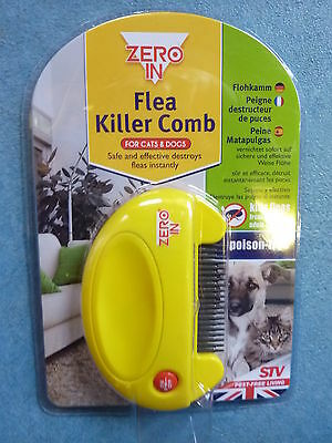 ZERO IN BATTERY FLEA & TICK COMB PROVIDES CHEMICAL-FREE PEST CONTROL  by STV