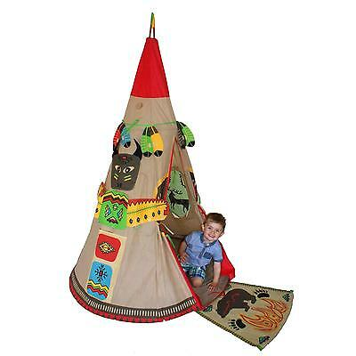 Red Indian Teepee Wigwam Childrens/Kids Outdoor/Indoor Play-Tent Play-House