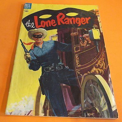1955 Lone Ranger #82 Vintage Dell Comic Book Old Western Serial Cowboy Indians