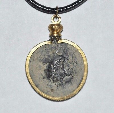 Authentic Pirate Shipwreck 1656 6 Maravedis Coin Necklace with Treasure Chest