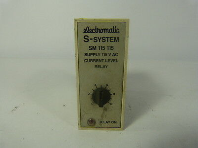 Electromatic SM-115-115 Relay Current Level 11 Pin 0-10 ! WOW !