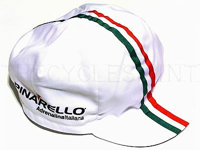 NEW Bella Capo Cycling/Bicycle Cap - White Pinarello Hat - Made in Italy