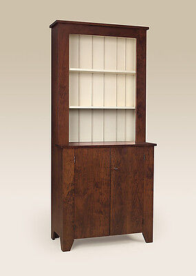 Hutch Cherry Wood Cabinet Simple Country Design Dining Room Cupboard Furniture