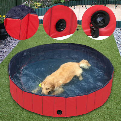 S: 80 x 20 cm Toys Yaheetech PVC Cat Dog Swimming Pool Puppy Bathtub Red in Different Size