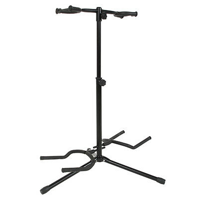 New Musician Dual Double Acoustic Electric Guitar Bass Stand Bracket Straight
