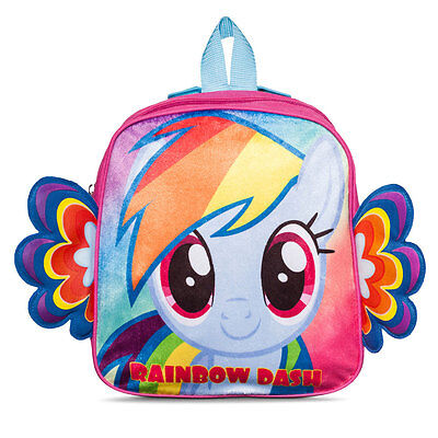 """Backpack 10.5"""" My Little Pony With Wing Rainbow Dash NEW"""