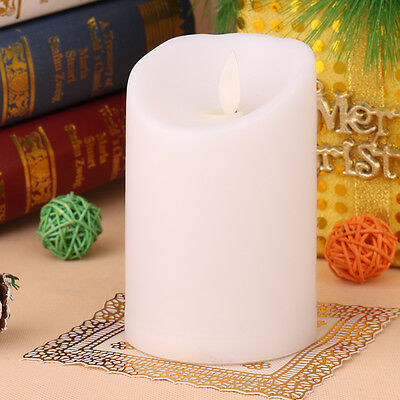 Flameless LED Electronic Carved Swing Flickering Candle Light Romantic 1PC