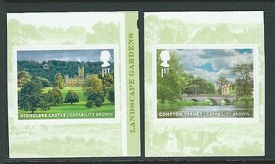 Great Britain 2016 Landscape Gardens Self Adhesive Pair Unmounted Mint, Mnh