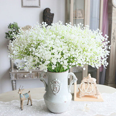 1 Artificial Gypsophila Floral Flor Fake La Seda Boda Parte Bouquet Home Decor