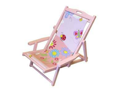 Kids Childs Directors Chair in Pink
