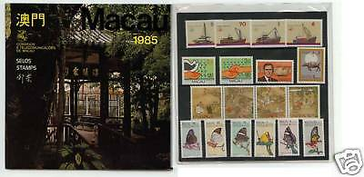 Macau 1985 complete year 18 stamp pack From post office MINT