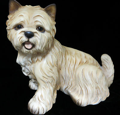 Cairn Terrier Puppy Dog Sitting Figurine Statue Porcelain Collectible