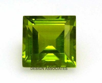 3x3 MM Square Cut Peridot 4 Piece Set All Natural Without Treatment