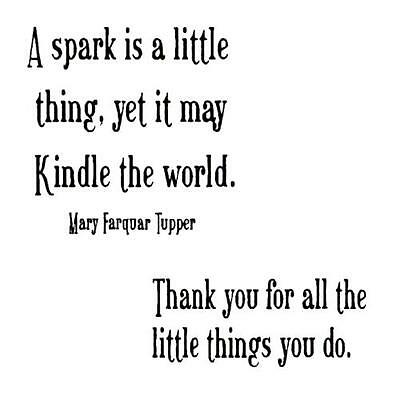 Spark, Thank you for all the Little Things you do, 2 unmounted rubber stamps #18