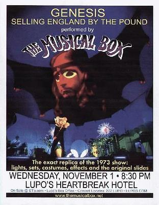 The Musical Box Genesis Concert Flyer Providence