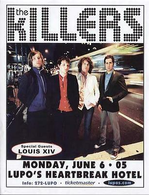 The Killers Concert Flyer Providence 2005