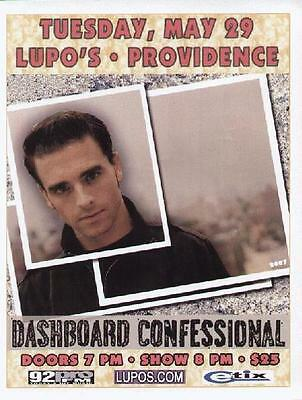 Dashboard Confessional Concert Flyer Providence
