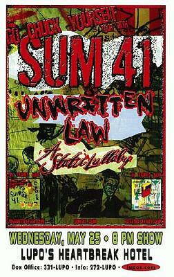 Sum 41 Lupo's Concert Poster Providence 2005