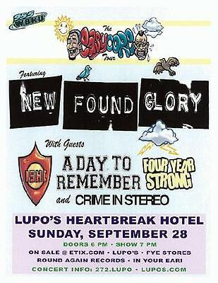 New Found Glory Lupos 2008 Concert Flyer Mint