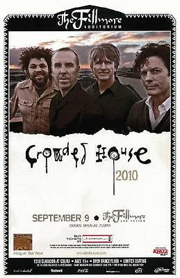 Crowded House Denver 2010 Original Concert Poster
