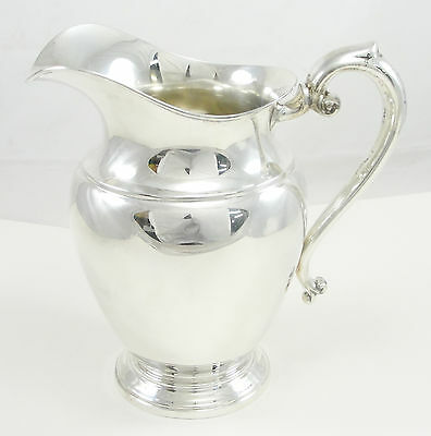 "Preisner Sterling Silver Water Pitcher Miscellaneous Hollowware Spit 9"" Tall"